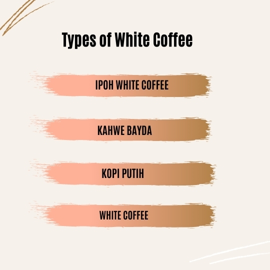Different Types of White Coffee