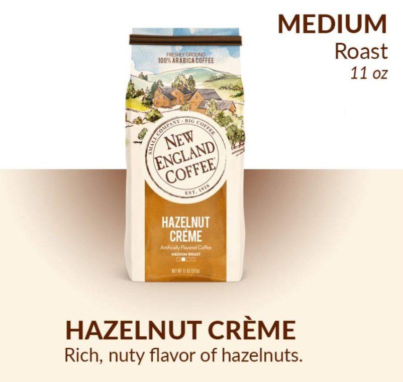 England Coffee Hazelnut Creme French Coffee